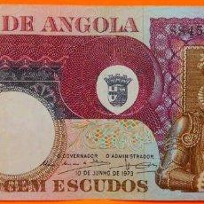 Billetes extranjeros: ANGOLA, 100 ESCUDOS, 1973. (89). Lote 262151780