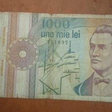 Billetes extranjeros: BILLETE 1000 LEÍ RUMANÍA. Lote 262152790