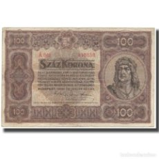 Billetes extranjeros: BILLETE, 100 KORONA, 1920, HUNGRÍA, KM:63, MBC. Lote 262155050
