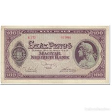 Billetes extranjeros: BILLETE, 100 PENGÖ, 1945, HUNGRÍA, 1945-04-05, KM:111B, MBC. Lote 262155130