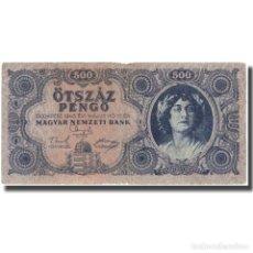 Billetes extranjeros: BILLETE, 500 PENGÖ, 1945, HUNGRÍA, KM:117A, BC+. Lote 262155335