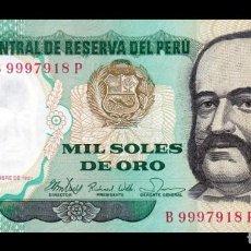 Billetes extranjeros: PERÚ 1000 SOLES DE ORO 1981 PICK 122 SC UNC. Lote 288397473