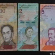 Billetes extranjeros: LOTE DE 3 BILLETES DISTOS VENEZUELA. Lote 262494770