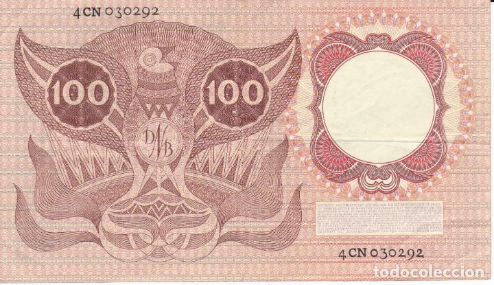 Billetes extranjeros: BILLETE DE HOLANDA DE 100 GULDEN DEL AÑO 1953 (BANKNOTE) ERASMUS - Foto 2 - 262579880