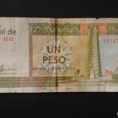 Billetes extranjeros: BILLETE DE 1 PESO CONVERTIBLES BANCO DE CUBA. Lote 262671545