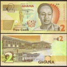 Billetes extranjeros: GHANA. 2 CEDIS 4.8.2017. S/C.. Lote 293893873