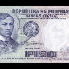 Billetes extranjeros: FILIPINAS PHILIPPINES 1 PISO 1969 PICK 142B SC UNC. Lote 262933840