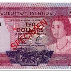 Billetes extranjeros: SOLOMON ISLANDS,10 DOLLARS,1977,P.7B,SPECIMEN 002424,UNC. Lote 262937115