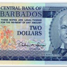 Billetes extranjeros: BARBADOS,2 DOLLARS,1995,P.46,UNC. Lote 262937210