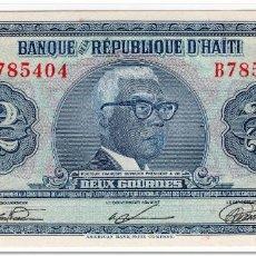 Billetes extranjeros: HAITI,2 GOURDES,L.1973,P.211,UNC. Lote 262937475