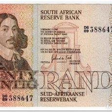 Billetes extranjeros: SOUTH AFRICA, 20 RAND,1982-85,P.121C,XF+. Lote 262938145