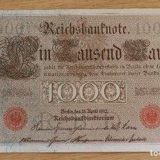 Billetes extranjeros: 1000 MARCOS 1910 (1916-1917) ALEMANIA SC-/AUNC P#44B. Lote 263108460