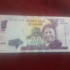 Billetes extranjeros: MALAWI - 20 KWACHA DE 2016 - SIN CIRCULAR. Lote 263157180