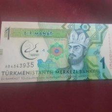 Billetes extranjeros: TURKMENISTAN 2017, 1 MANAT, SC-UNC. Lote 263157335