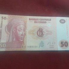 Billetes extranjeros: CONGO 2013, 50 FRANCS, SC. Lote 263157395