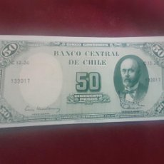 Billetes extranjeros: CHILE 50 PESOS 1960-6 SC UNC. Lote 263157605