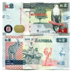 Billetes extranjeros: ZAMBIA 2 KWACHA 2018 P 62 UNC. Lote 263605905