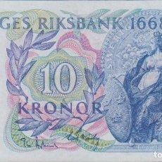 Billetes extranjeros: BILLETES - SUECIA - 10 KRONOR 1968 - PICK-56 (SC-). Lote 263606590