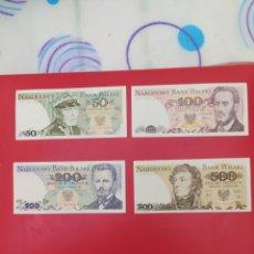 Billetes extranjeros: OFERTA POR LIQUIDACIÓN. LOTE DE 4 BILLETES DE POLONIA SIN CIRCULAR.. Lote 263607340