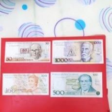 Billetes extranjeros: OFERTA POR LIQUIDACIÓN. LOTE DE 4 BILLETES DE BRASIL SIN CIRCULAR.. Lote 263607765