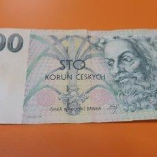 Billetes extranjeros: BILLETE DE 100 KORUN CHECOS AÑO 1997 USADO. Lote 264274228