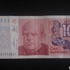 Billets internationaux: BILLETE DE 100 AUSTRALES ARGENTINA. Lote 264732264