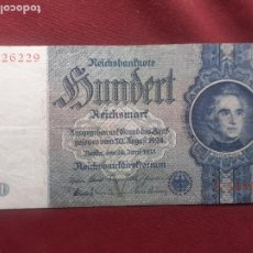 Billets internationaux: ALEMANIA 100 MARCOS 1935 ,100 REICHSMARK MBC+. Lote 265351284
