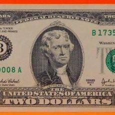 Billetes extranjeros: ESTADOS UNIDOS, 2 DÓLARES. SC. (106). Lote 265422474