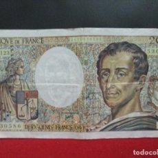 Billetes extranjeros: 200 FRANCOS MONTESQUIEU 1992 FRANCIA. Lote 265512484
