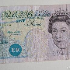 Billetes extranjeros: BILLETE DE FIVE POUNDS. Lote 267305784