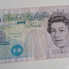 Billetes extranjeros: BILLETE DE FIVE POUNDS. Lote 267305799