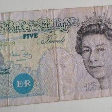 Billetes extranjeros: BILLETE DE FIVE POUNDS. Lote 267305849