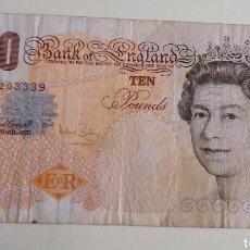 Billetes extranjeros: BILLETE 10 POUNDS. Lote 267306419