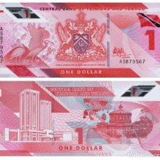 Notas Internacionais: TRINIDAD & TOBAGO 1 DOLLAR 2020/2021 P NEW POLYMER UNC. Lote 267524589