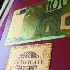 Notas Internacionais: BILLETE DE ORO LAMINADO DE 24K, 100€.. Lote 267668869