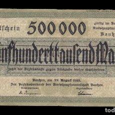Billetes extranjeros: ALEMANIA - 500.000 MARCOS DE 1923. Lote 268445439