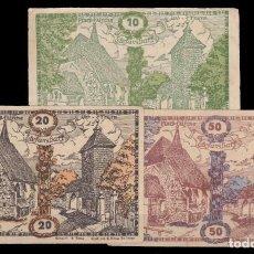 Billetes extranjeros: AUSTRIA - 10 , 20 , 50 HELLER DE 1920. Lote 268582089