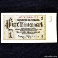Banconote internazionali: ⚜️ A2258. 1 RENTENMARK 1937. MUY BUEN EJEMPLAR. ALEMANIA NAZI III REICH. Lote 268754729