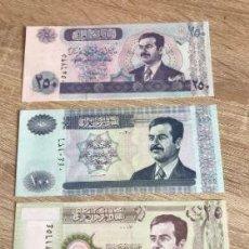 Billetes extranjeros: 3 BILLETES SADAM HUSEIN. Lote 268807474