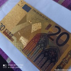 Billetes extranjeros: BILLETE DE ORO LAMINADO DE 24 K, 20€.CON CERTIFICADO DE GARANTÍA.. Lote 268918509