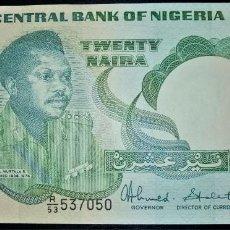 Billetes extranjeros: NIGERIA 20 NAIRA 1984. PICK 26C. Lote 268918539