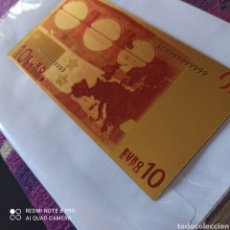 Billetes extranjeros: BILLETE DE ORO LAMINADO DE 24K, 10€. Lote 268918684