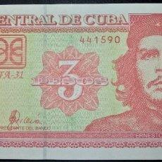Billetes extranjeros: CUBA 3 PESOS 2004. CHE GUEVARA. PICK 127. Lote 268920829