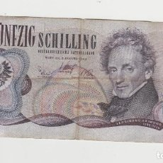 Billetes extranjeros: AUSTRIA- 50 SCHILLINF-1970. Lote 269092268