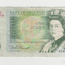 Billetes extranjeros: INGLATERRA/GRAN BRETANIA- 1 LIBRA. Lote 269092428