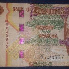 Billetes extranjeros: ZAMBIA 20 KWACHA 2018 DR/18 0459357. Lote 269162168