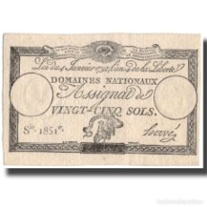 Billetes extranjeros: [#127395] FRANCIA, 25 SOLS, EBC, FAYETTE:ASS.25A, KM:A55. Lote 269164028