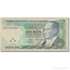 Billetes extranjeros: [#607761] BILLETE, 10,000 LIRA, 1989, TURQUÍA, OLD DATE : 14.01.1970 (1989)., KM:200, BC. Lote 269171963