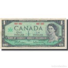 Billetes extranjeros: [#126356] BILLETE, 1 DOLLAR, 1967, CANADÁ, KM:84A, MBC. Lote 269179018