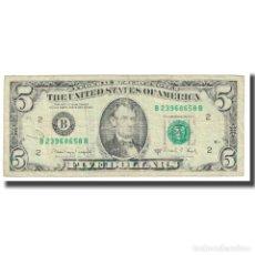 Billetes extranjeros: [#618585] BILLETE, FIVE DOLLARS, 1988, ESTADOS UNIDOS, BC. Lote 269179378